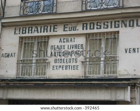 Bookstore in the Latin Quarter, Paris. - stock photo