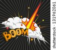 Boom.Comic book explosion, raster - stock vector