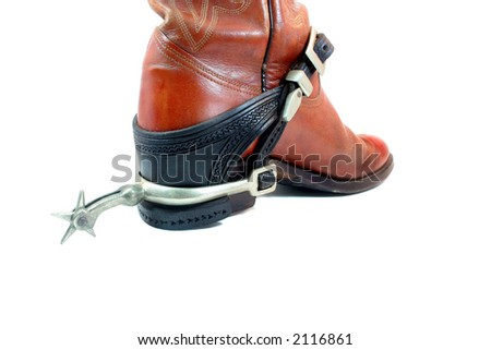 Boot and Spur - stock photo
