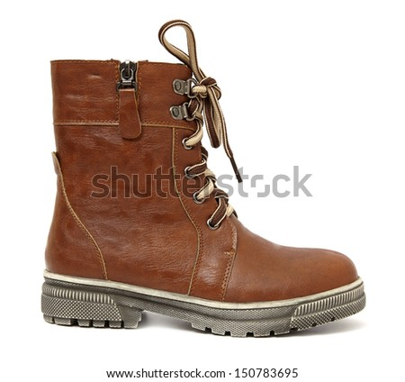 Boot isolated on white background - stock photo