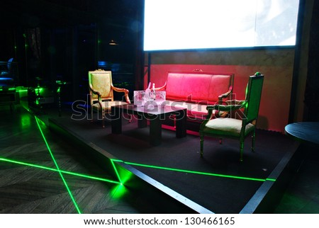 booth in a nightclub - stock photo
