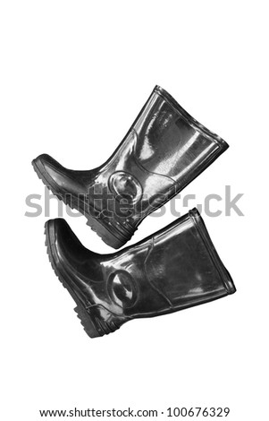 Boots isolated - stock photo