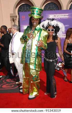 Bootsy Collins at the 2007 BET Awards at the Shrine Auditorium, Los Angeles. June 26, 2007 Los Angeles, CA Picture: Paul Smith / Featureflash - stock photo