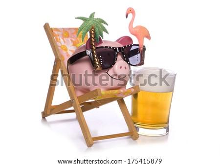 Boozer cruise piggy bank - stock photo