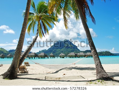 bora bora is so very beautiful - stock photo