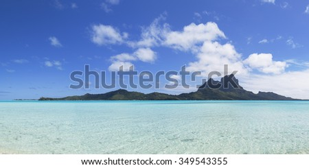 Bora Bora, Society Islands, French Polynesia - stock photo