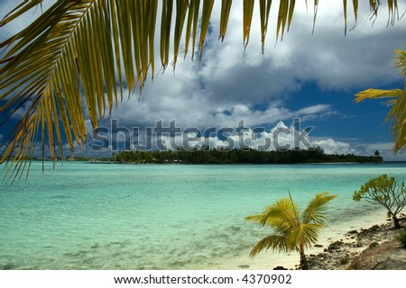 bora bora tropical island