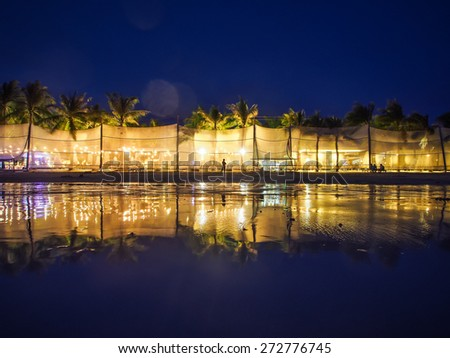 Boracay after rainfall during the night - stock photo