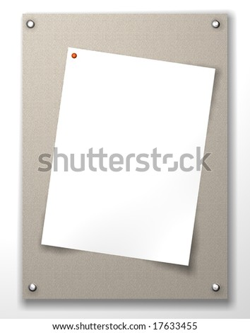 border frame and blank notepad and a paper clip with  background material - stock photo