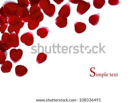Border made from red rose - stock photo