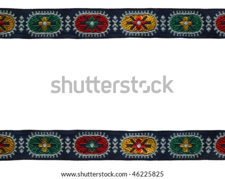 border of colorful tape - stock photo