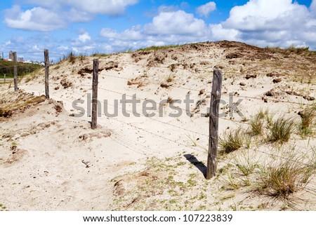 border of National park in Zandvoort ann zee in Netherlands - stock photo