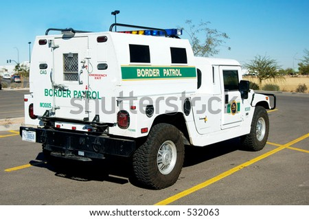 Border patrol vehicle. - stock photo