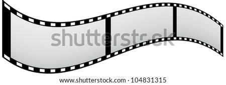 border 3 piece of film strip like flag. - stock photo