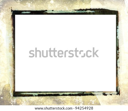 Border with added grunge texture - stock photo