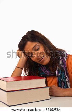 Bored student - stock photo