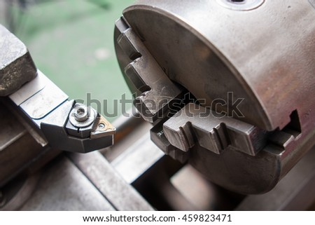 Boring mills cutter close up