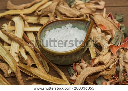 Borneo camphor, used for herbal medicine - stock photo