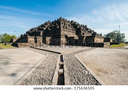 Borobudur, a UNESCO World Heritage Site, Indonesia - stock photo