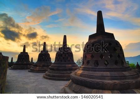 Borobudur Indonesia  - stock photo