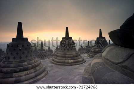 Borobudur, Indonesia - stock photo