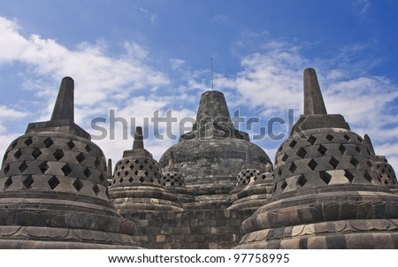 Borobudur Temple Compounds, Yogyakarta. It is in the list of UNESCO World Heritage sites