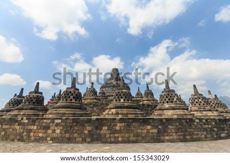 Borobudur temple,Indonesia - stock photo