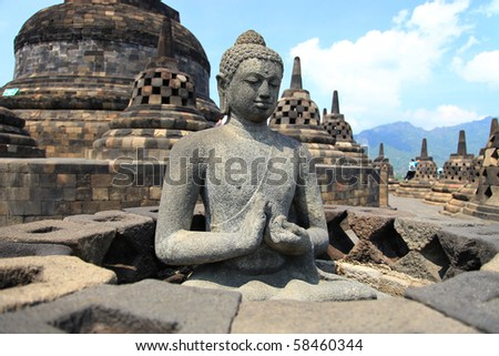 Borobudur world heritage site - stock photo
