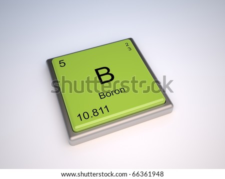 Boron Chemical Element Periodic Table Symbol Stock Illustration