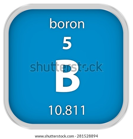 Boron Material On Periodic Table Part Stock Illustration 281528894