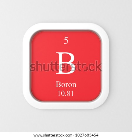 Boron Symbol On Red Rounded Square Stock Illustration 1027683454