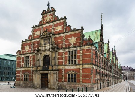 Borsen is a building in central Copenhagen, Denmark. It was built by Christian IV in 1619 1640 and is the oldest stock exchange in Denmark.