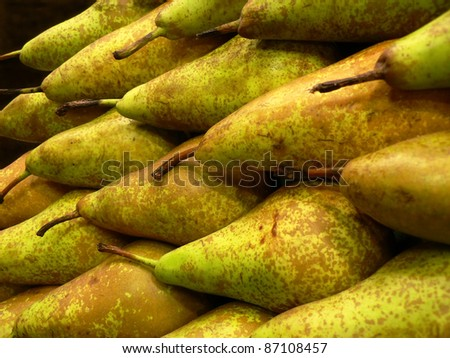 Bosc Pears - stock photo