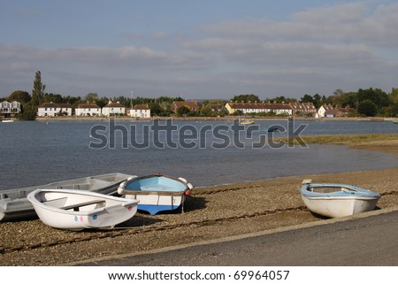 Bosham village at high tide. Chichester Harbour. West Sussex. England
