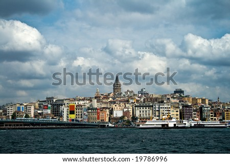 Boshphorus strait and asian side of Istanbul