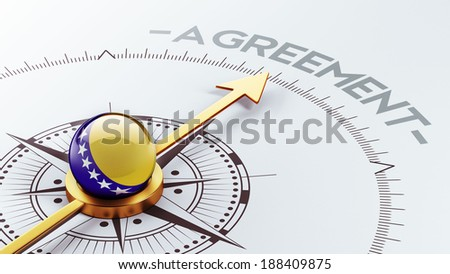 Bosnia and Herzegovina  High Resolution Agreement Concept - stock photo