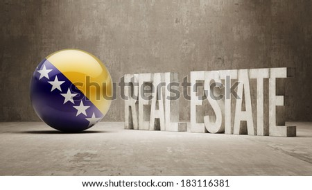 Bosnia and Herzegovina High Resolution Real Estate Concept - stock photo