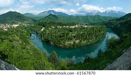 Bosnia and Herzegovina, river of Neretva - stock photo