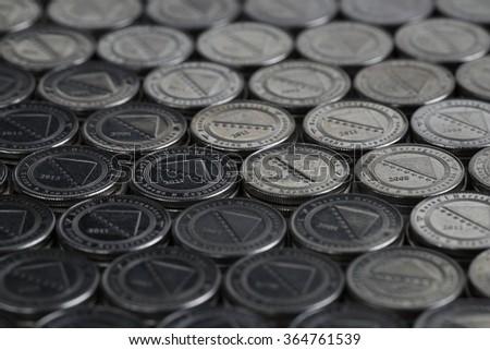 Bosnian Convertible Marka Background - stock photo