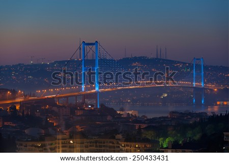 Bosphorus Bridge - stock photo