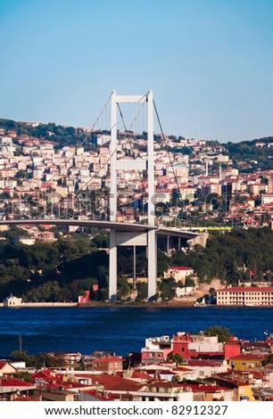 Bosphorus Bridge. Turkey. Instambul - stock photo