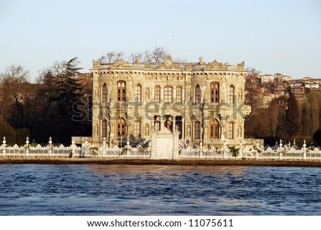 Bosphorus cruise at sunset - stock photo