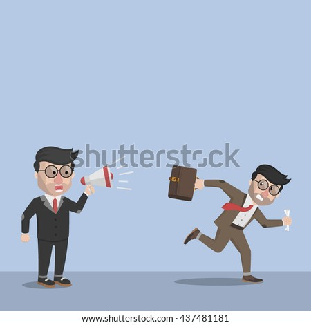 Boss force to the staff - stock photo