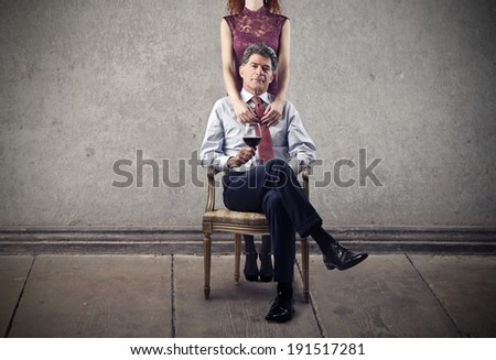 boss's woman - stock photo