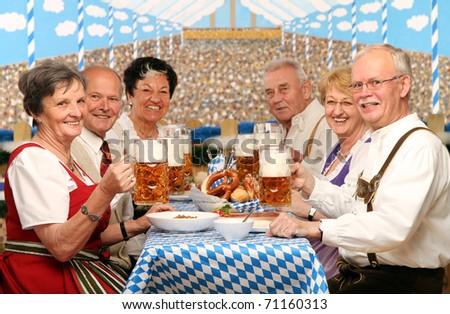 bosses at the oktoberfest - stock photo
