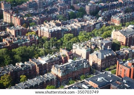 Boston Aerial View - stock photo