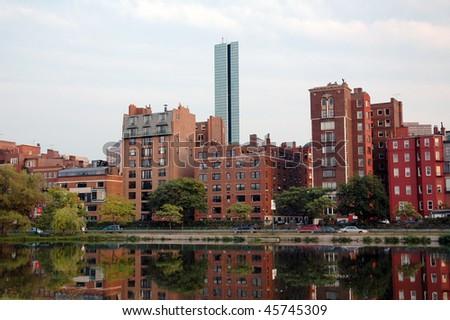 Boston Back Bay District at Twilight - stock photo