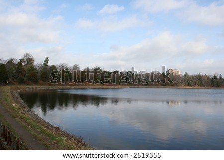 Boston College Lake - stock photo