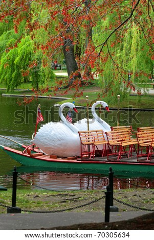 Boston Common and Public Garden, USA - stock photo