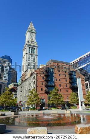 Boston Custom House in Financial District, Boston, Massachusetts, USA - stock photo